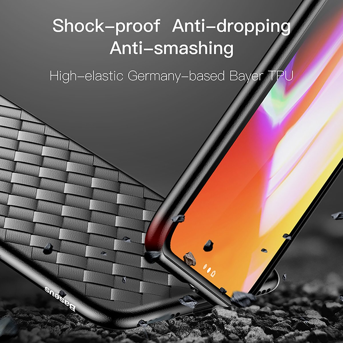 Iphone X Leather Caseiphone 10 Case Baseus Simple Anti Shock 7 47 Soft Tpu Fashion Exquisite Bv Weaving Absorption Protective Defender Impact Resistant