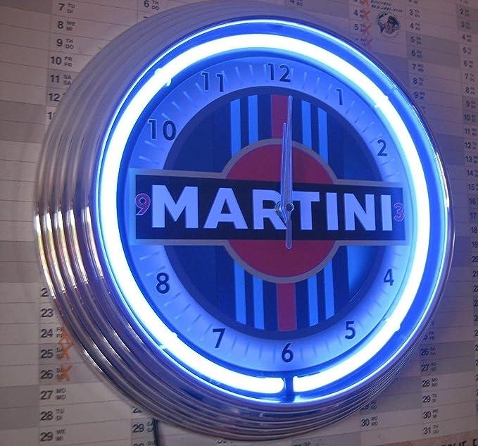 Neón reloj de pared logo martini