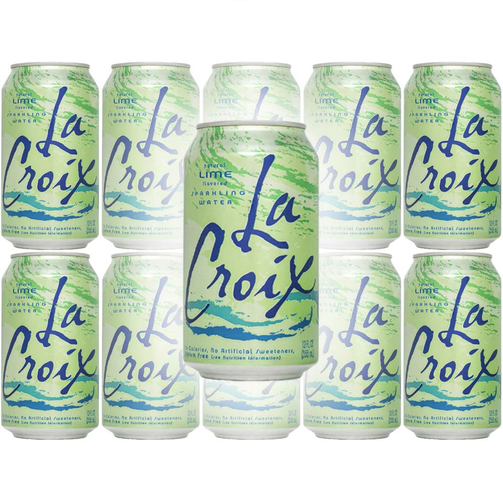 La Croix Lime Naturally Essenced Flavored Sparkling Water, 12 Ounce Can (Pack of 10, Total of 120 Ounces)