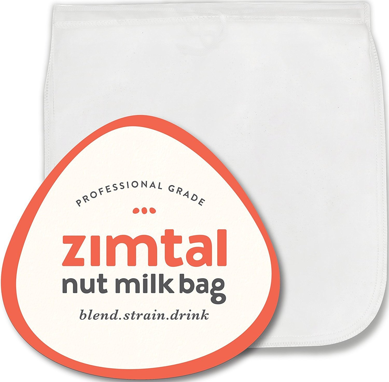 Premium Quality - Nut Milk Bag - XL - 13 '' X 13 '' - Smoothie Strainer - Cold Brew Coffee Maker- Free Recipes Included - Reusable - Filter Bag - Professional Industry - Largest on Amazon by Zimtal