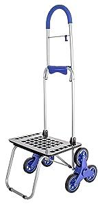 Stair Climber Bigger Mighty Max Dolly Cart, Blue Handtruck Hardware Garden Utility Cart