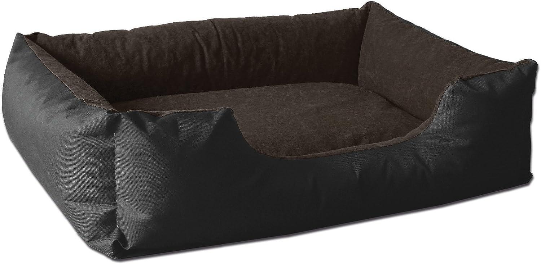 Noir//Gris XXXL env Coussin de Chien BedDog Lit pour Chien LUPI 150x110 cm,Panier Corbeille