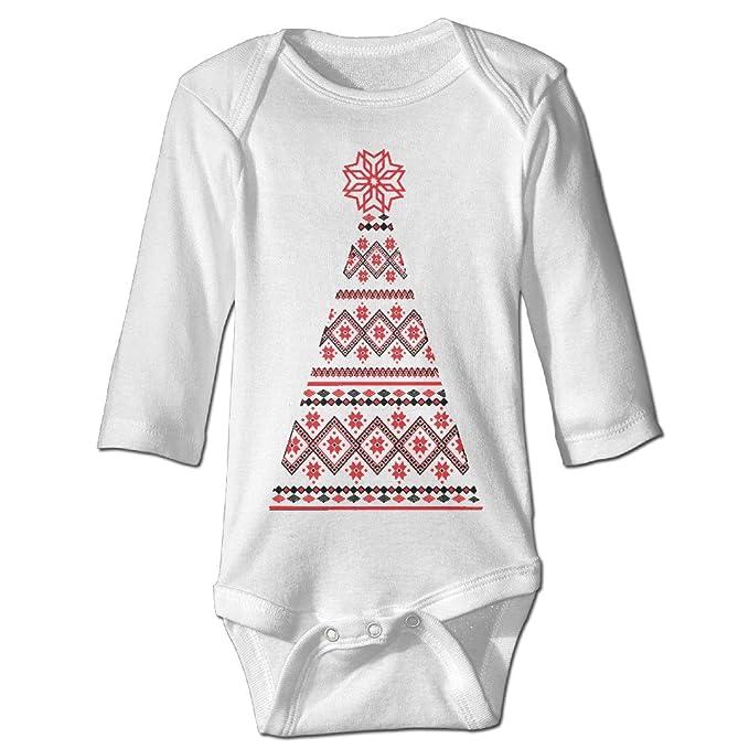 Amazon.com: Bebé Onesie ucraniano Árboles de Navidad Recién ...