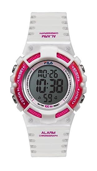 Fila Unisex de Pulsera Reloj Digital Cuarzo 38 – 097 – 002 filactive Blanco Rojo Plástico