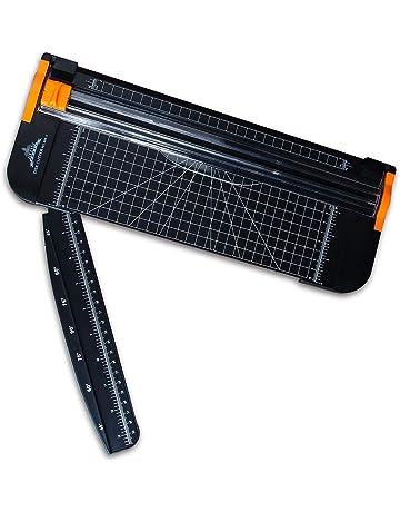 Guillotina Cortador de Papel 12 inch A4 de Titanio con Automático de Seguridad Salvaguardar y Slide
