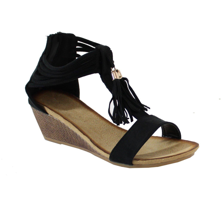 By Shoes Femme Sandale Compensé Style Daim By - Femme Compensé Noir ad6c3fc - boatplans.space