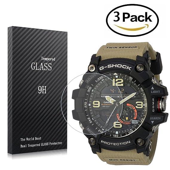 Amazon.com  Youniker 3 Pack Casio GG-1000 Screen Protector Tempered ... ca955fcec89