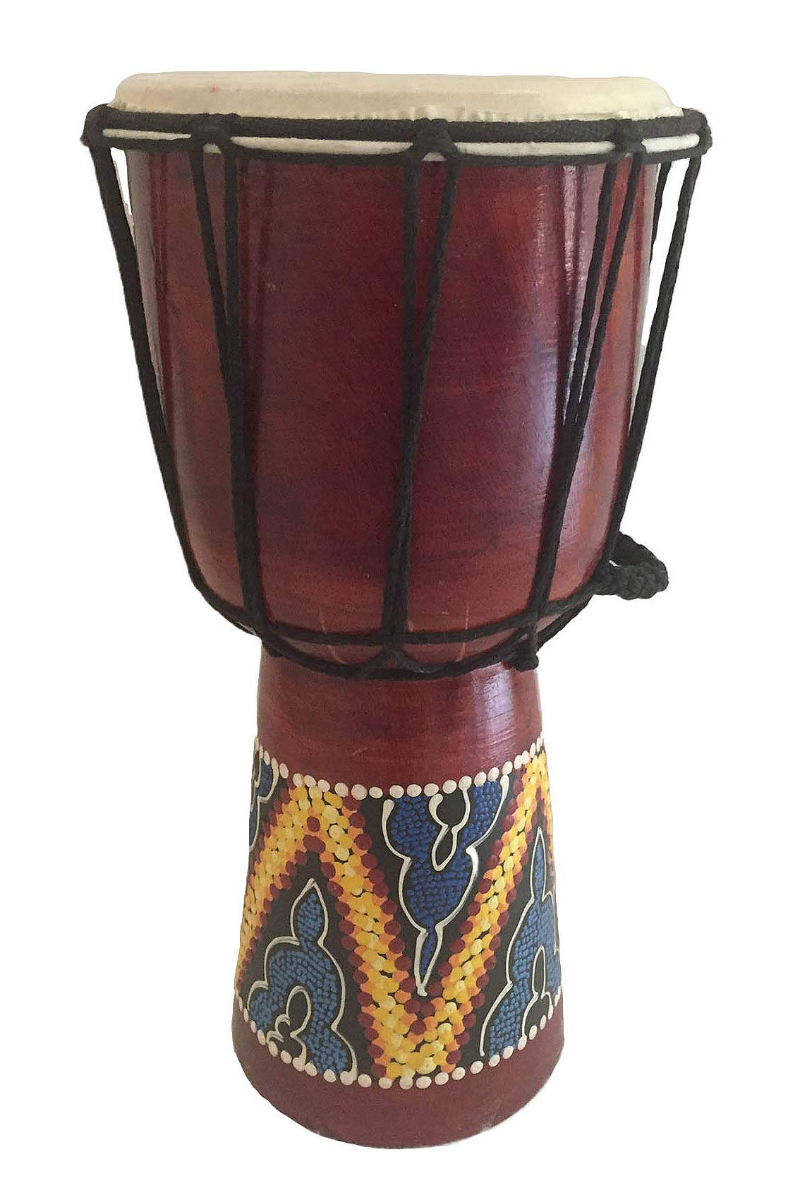 Djembe Drum Bongo Congo African Drum Wooden Hand Drum Professional Sound - JIVE BRAND (12'' High - Painted/Carved)