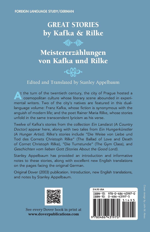 Great Stories by Kafka and Rilke/Meistererzählungen von Kafka und Rilke: A Dual-Language Book (Dover Dual Language German) by Dover Publications