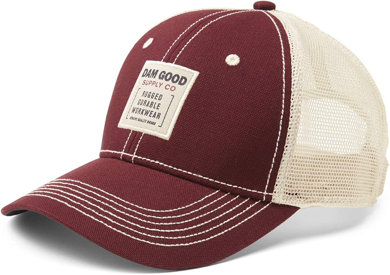 Dam Good Supply Co Mens Washed Brushed Canvas Adjustable Cap