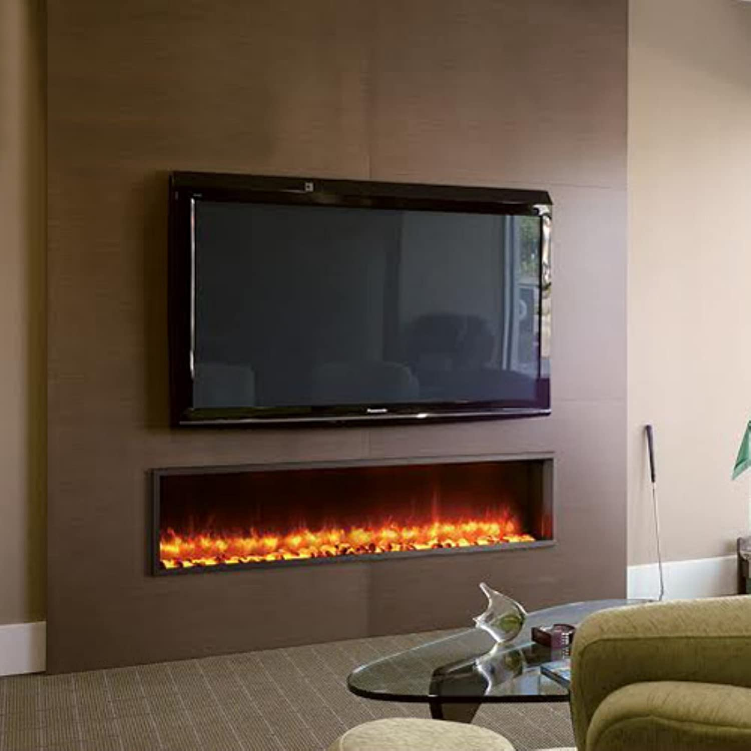 amazon com dynasty 63 in built in electric fireplace dy bt63
