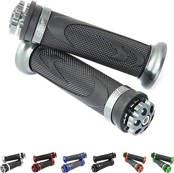 22//24-25 mm in gomma Manopole universali per moto//scooter laser