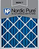 Nordic Pure 16x25x4M7-1 MERV 7 Pleated AC Furnace Air Filter, 16x25x4, Box of 1