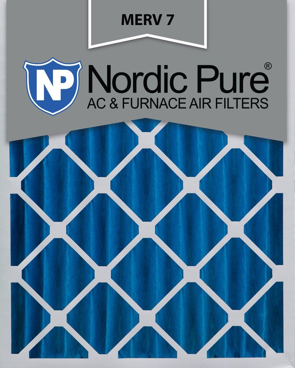 Nordic Pure 18 x 24 x 4 m7 18インチby 24-inch-inch by 4-inch MERV 7 AC炉エアフィルタ、6点 B00A2OCXG8