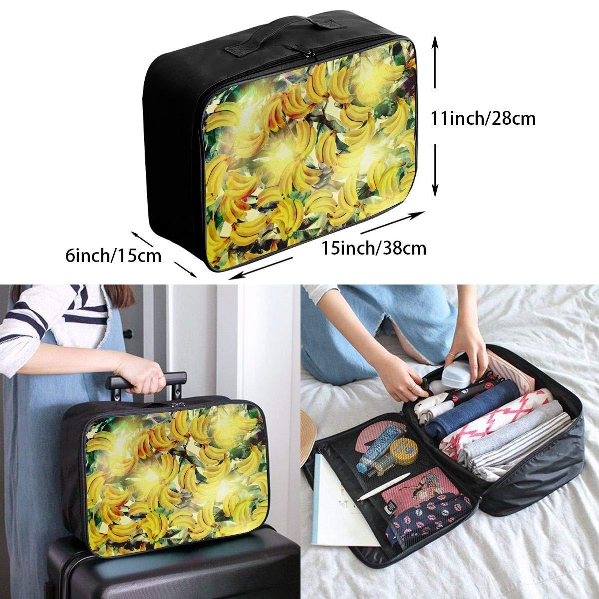 YueLJB Tropical Banana Lightweight Large Capacity Portable Luggage Bag Travel Duffel Bag Storage Carry Luggage Duffle Tote Bag