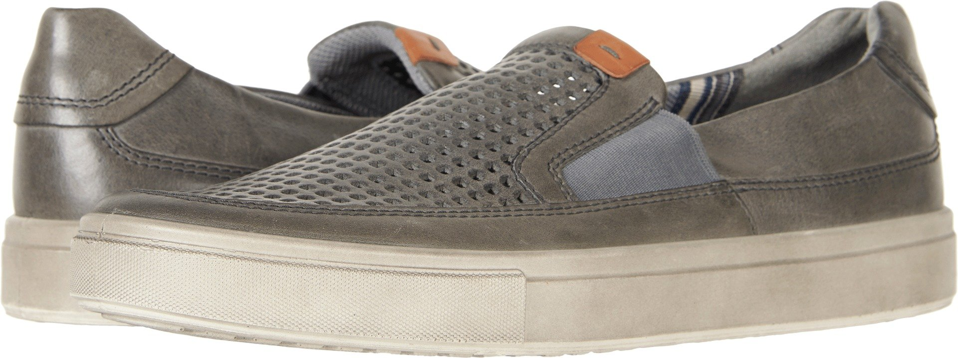 ECCO Men's Kyle Perforated Slip On Fashion Sneaker, Titanium, 46 EU/12-12.5 M US