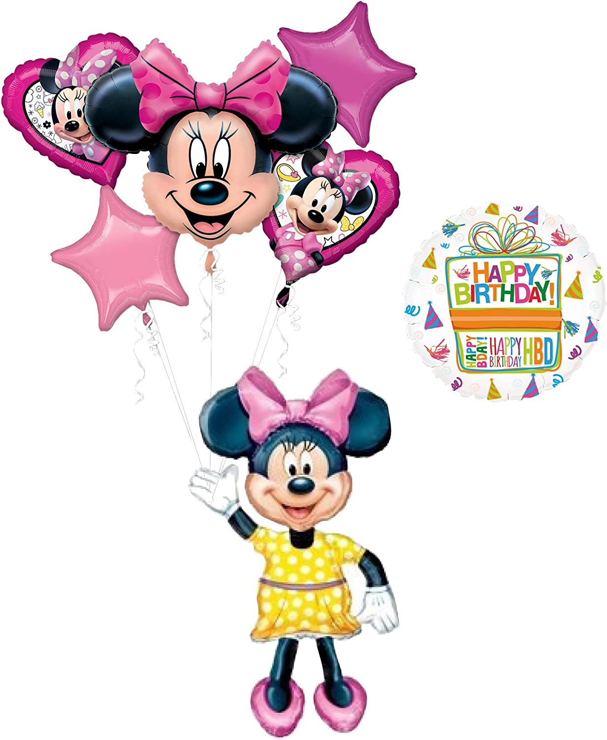 "Minnie Mouse Airwalker 54/"" Jumbo Foil Balloon Birthday Party Decoration Supplies"