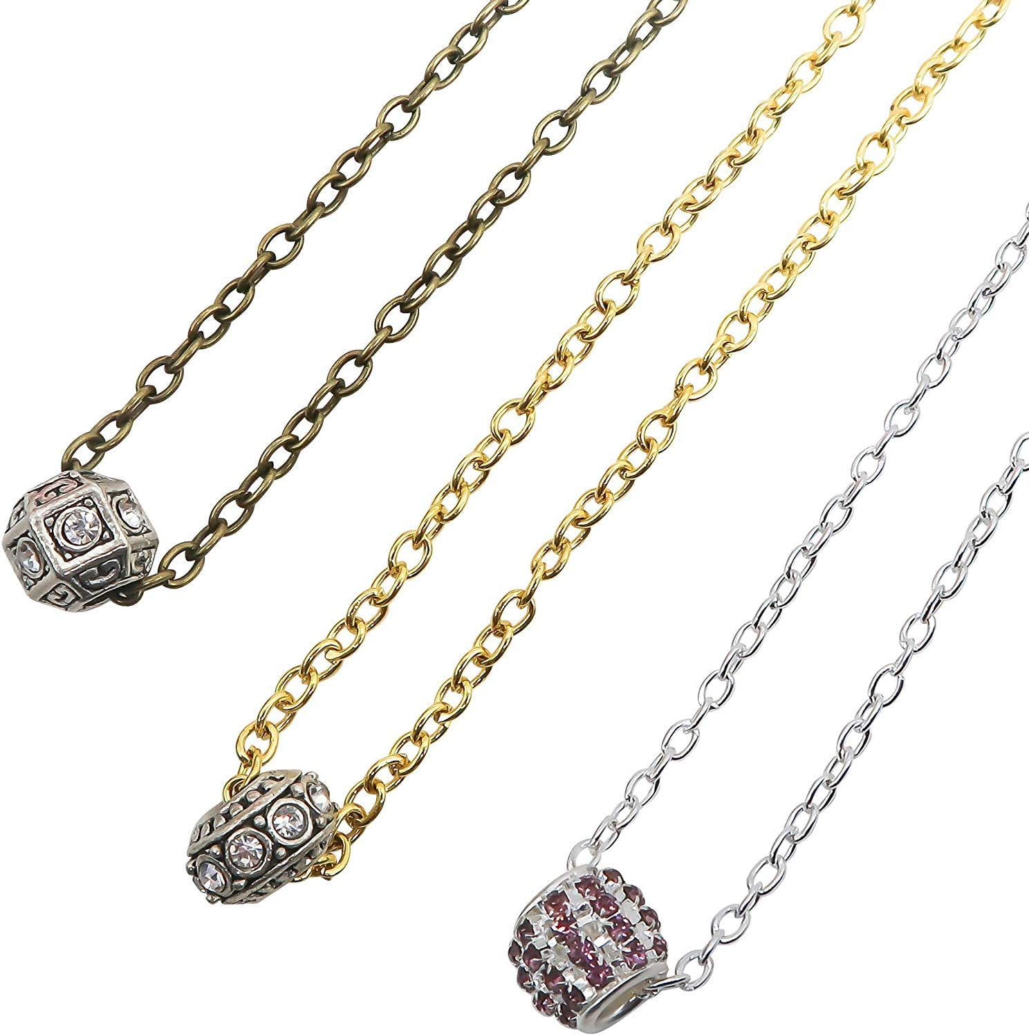 TOAOB 15m Mixed Colours Oval Cross Stainless Steel Cable Link Chain Clasps for Necklace Accessories DIY Jewelry Making Beginner Gold Silver Bronze in Colour