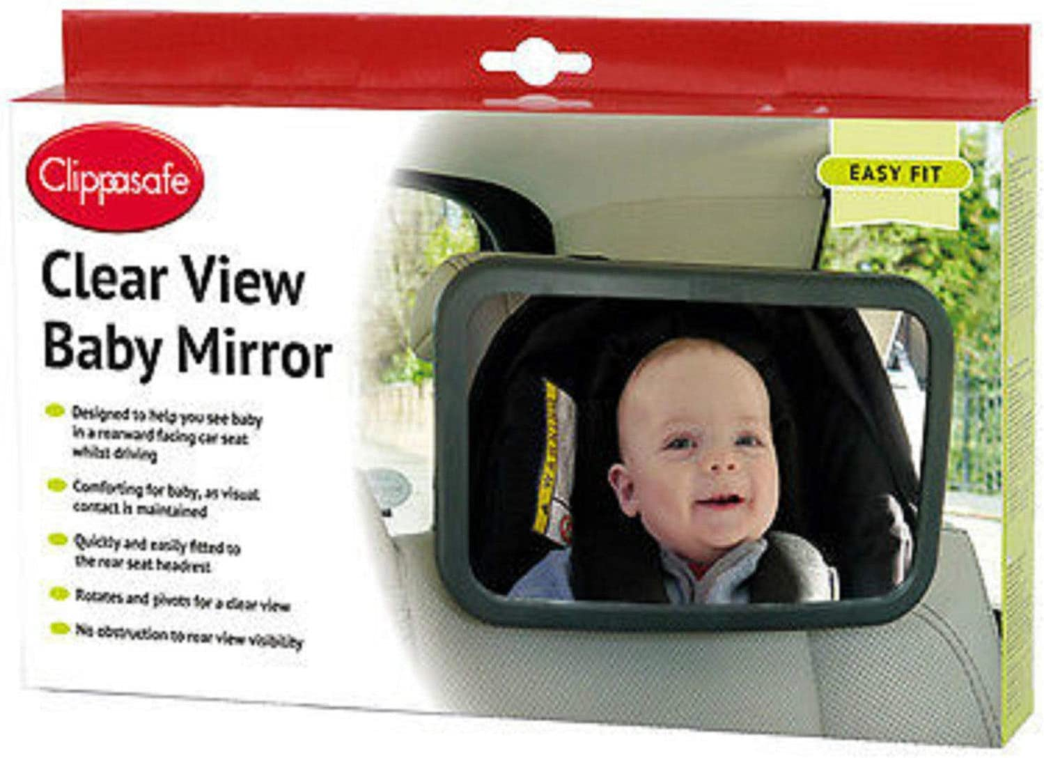 Fashion Review Gimbles/® Parents Clippasafe Clear View Baby Mirror Baby Proof Child Safety