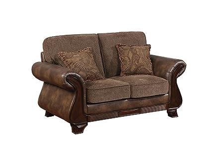 Enjoyable Amazon Com Benzara Bm182914 Upholstered Leather And Fabric Creativecarmelina Interior Chair Design Creativecarmelinacom