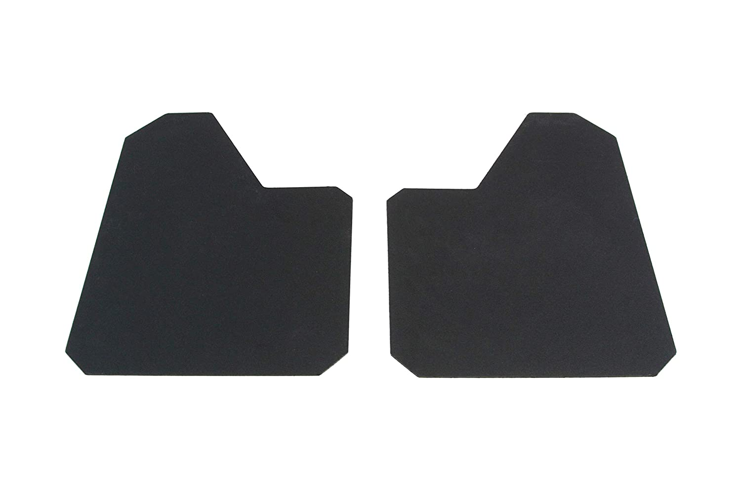 Red Hound Auto 4 Piece Racing Style Universal Splash Guards Standard Coverage Stone Guards fits Front and Rear Driver and Passenger Mud Flaps Black 4pc Full Set with Hardware 9 Inches x 12 Inches