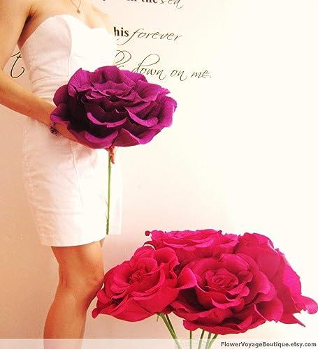 Amazon Com Giant Crepe Paper Flower Huge Paper Rose Engagement
