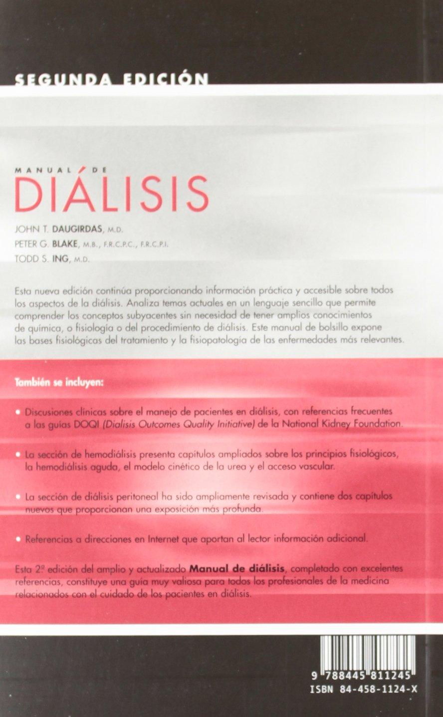 Manual De Dialisis Amazon Es Daugirdas J T Libros