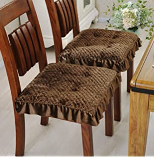 Super Soft Chair Cushion Dining Chair Pad Warmth Plush Stool Cushion,Set Of  4 (