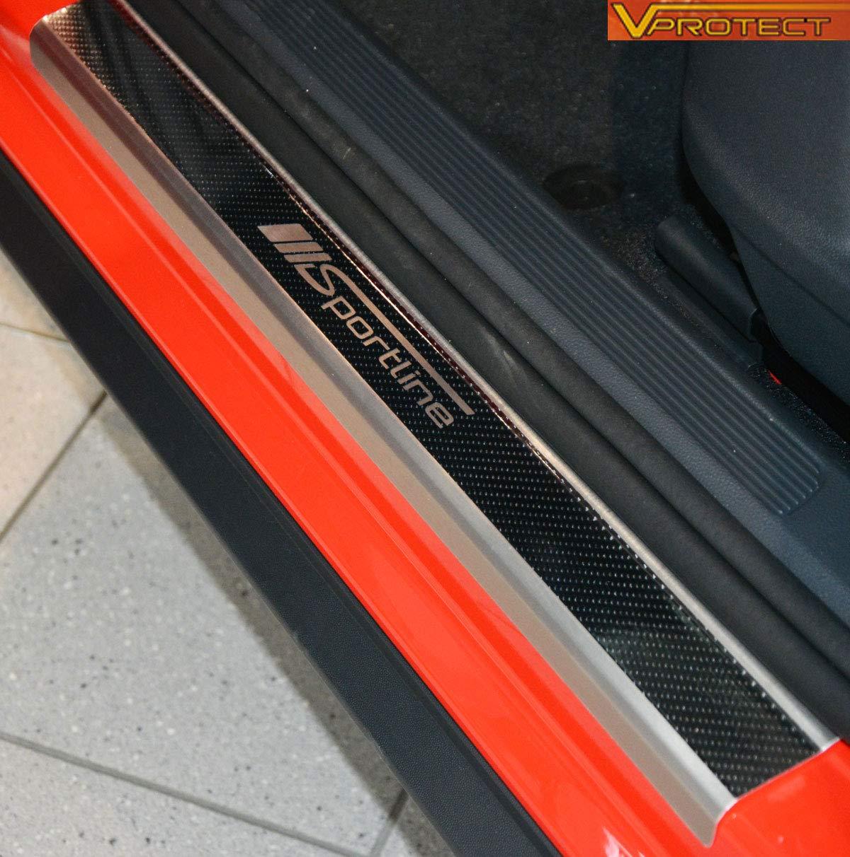 V-Protect Einstiegsleisten ABKANTUNG 5D Carbon auf AluNox/® SPORTLINE 1023-604