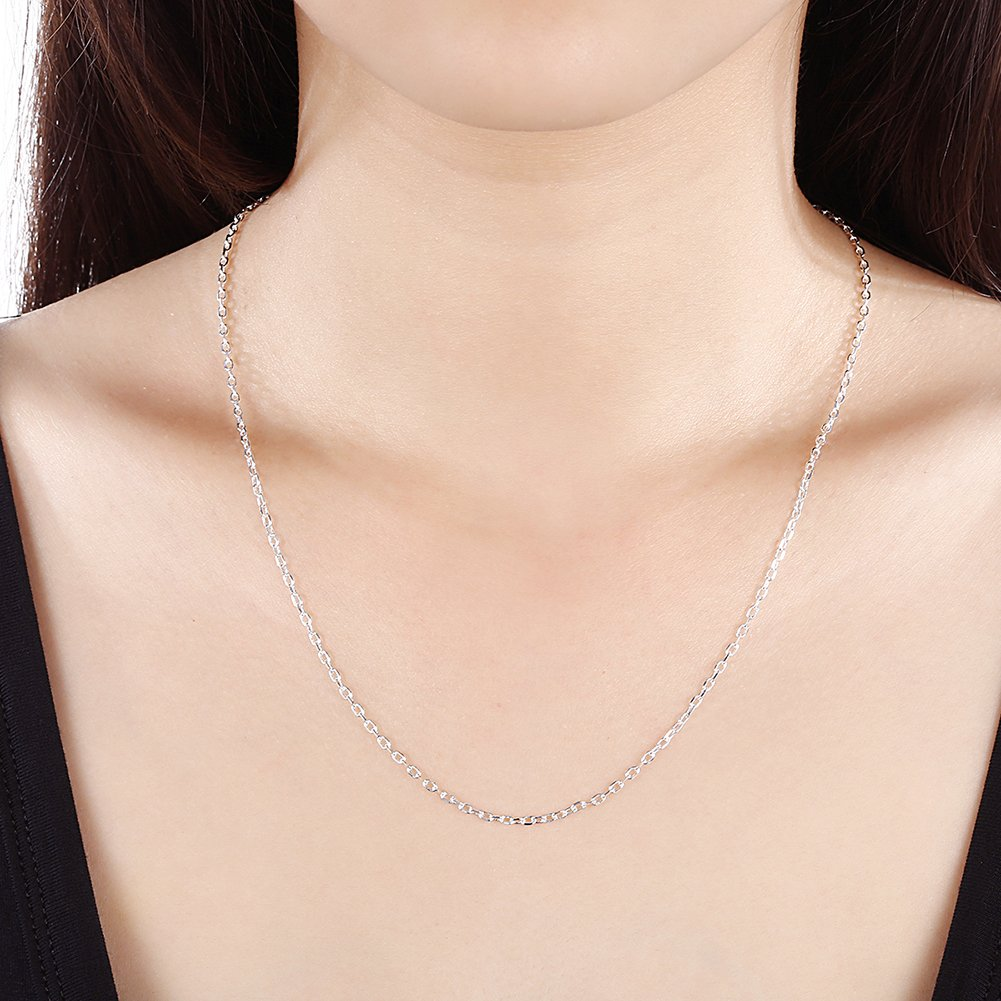 myazs8580 C012-18 Fashion Different Sizes Silver Snake Chain