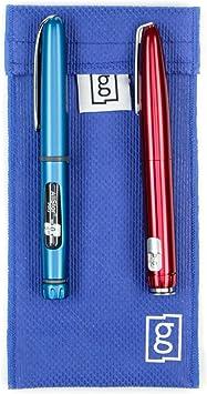 Estuche de Bolsillo de Glucology™ para Refrigeración de Insulina | No se Necesita Bolsa de Hielo ni Baterías |Tecnología innovadora | Perfecto para Viajar | Estuche para 2 Plumas (Azul, Grande): Amazon.es: