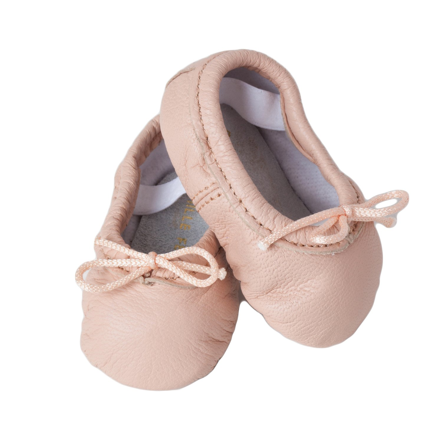 d562722658ec Amazon.com  Baby Ballet Slippers (infant toddler) - Prima Pink Leather shoes   Clothing