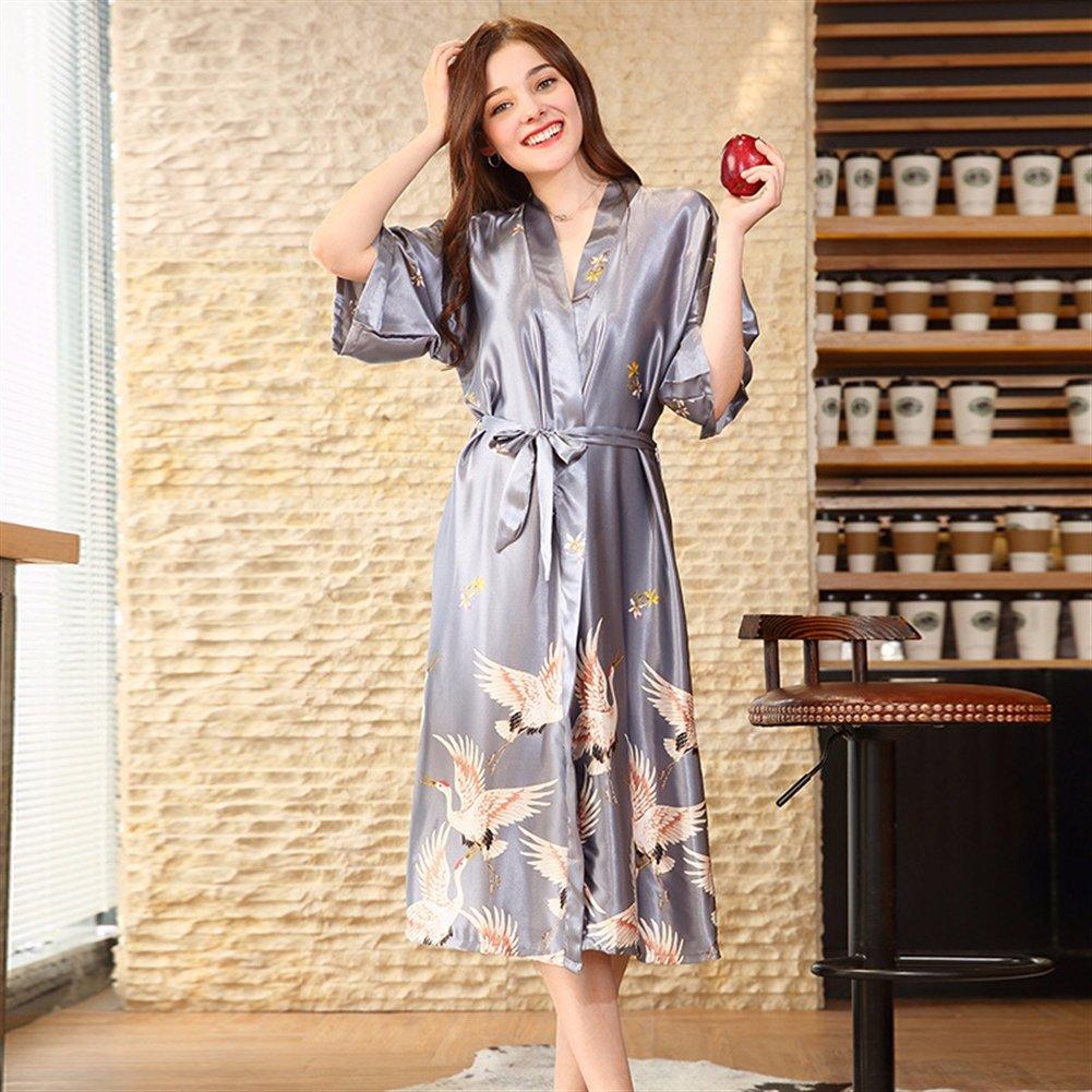 Grúas Mujer Vestido Insun largo Kimono Estilo Camisas Nkw0op Night WEIDH92