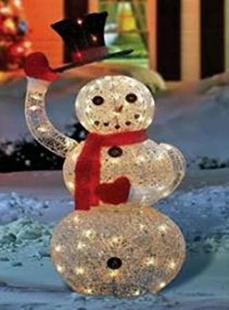 Amazon.com : NorthLight 46 in. Lighted Animated Snowman With Top ...:Lighted Animated Snowman With Top Hat Outdoor Christmas Yard Art Decoration,Lighting
