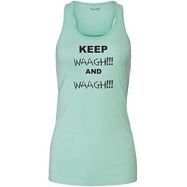 Keep Waagh and Waagh! Damen Flowy Racer Tank Top - Grün S ( UK Größe