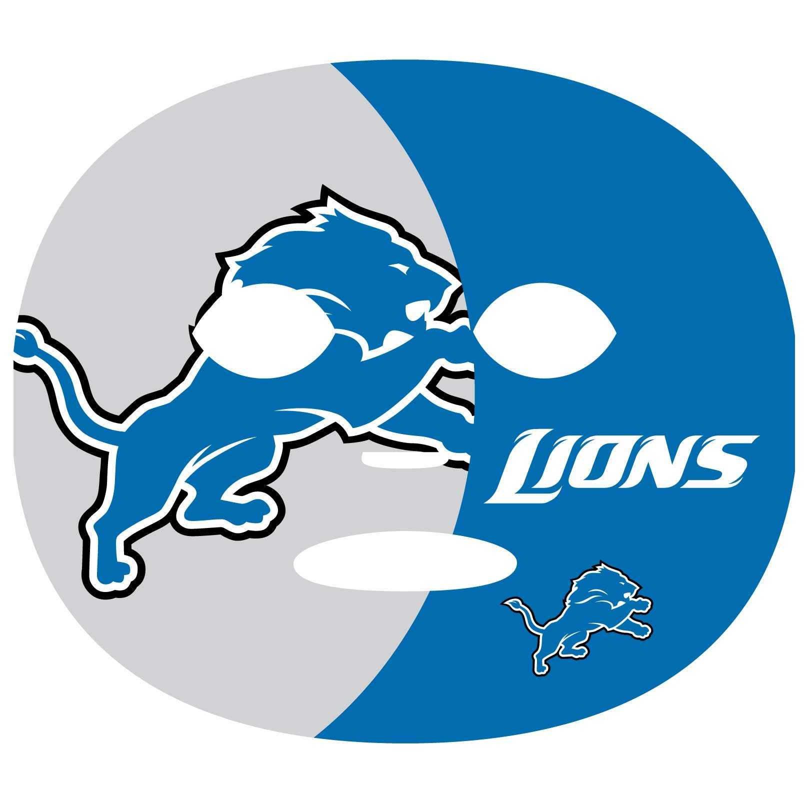 NFL Detroit Lions Game Day Face Temporary Tattoo
