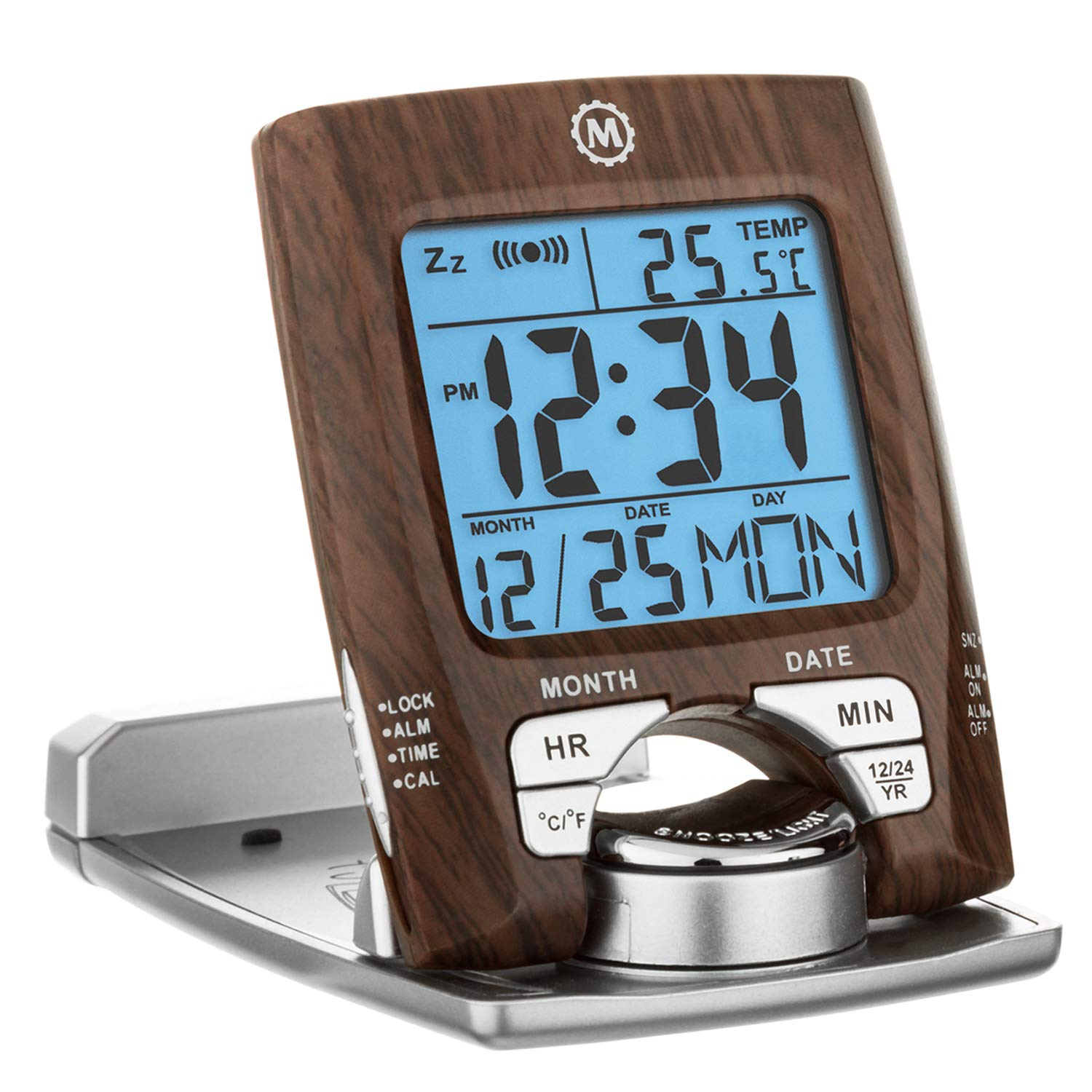 Amazon.com: Marathon CL030023WD Travel Alarm Clock with Calendar ...