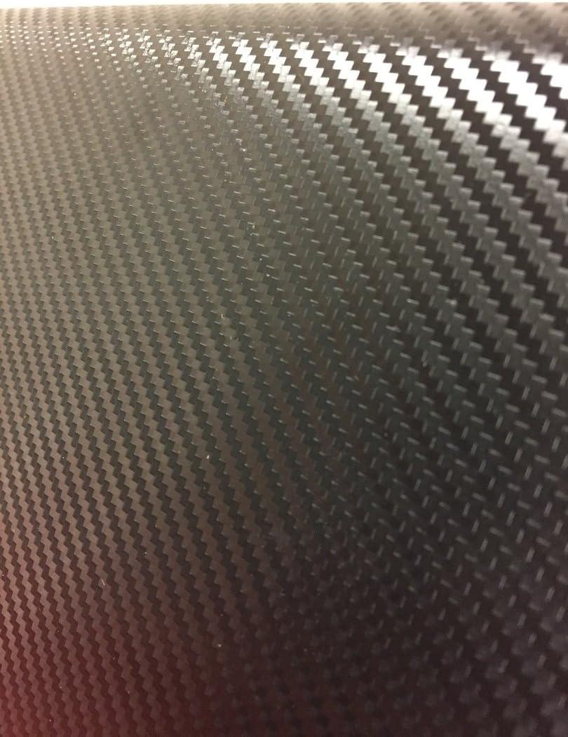 White, 1//2ft x 5ft Premium Carbon Fiber Vinyl Wrap Film VViViD
