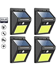 Solar Lights Outdoor, Waterproof Wireless Upgrape Super Bright 48 COB LED Solar Motion Sensor Wall Light Security Night Lighting with Easy Install for Patio, Deck, Yard, Garden, Fence, Driveway, Garage(4 Pack)