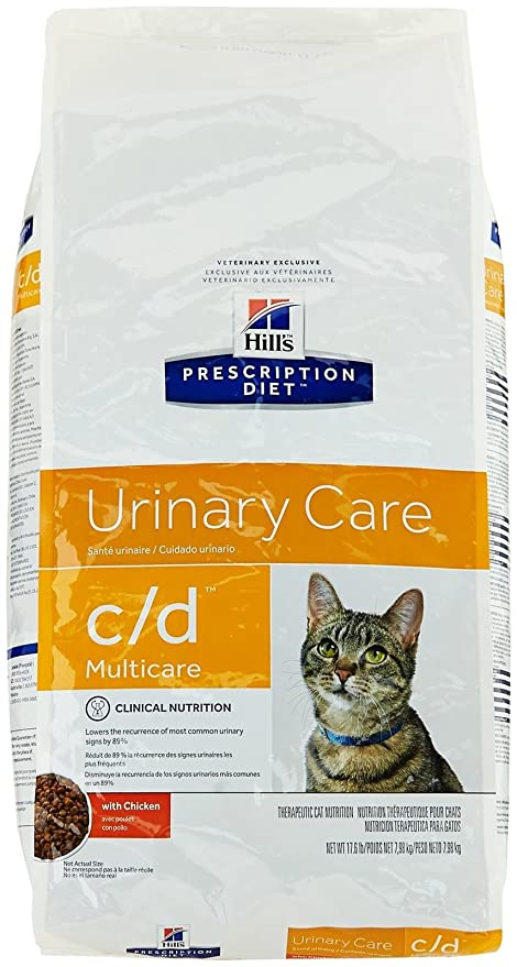 Amazon.com : Hills Prescription Diet c/d Feline Urinary Tract Multicare, Chicken - 17.6lb : Pet Food : Pet Supplies
