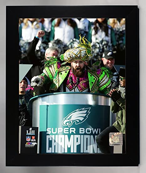 Framed Philadelphia Eagles Jason Kelce Super Bowl 52 Champion 8x10 Photo 95e5e1447