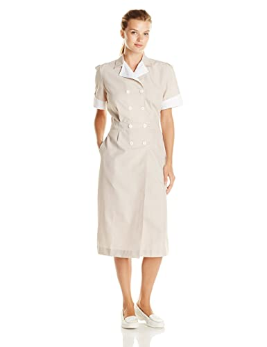 Vintage Shirtwaist Dress History Red Kap Womens Lapel Dress $45.05 AT vintagedancer.com