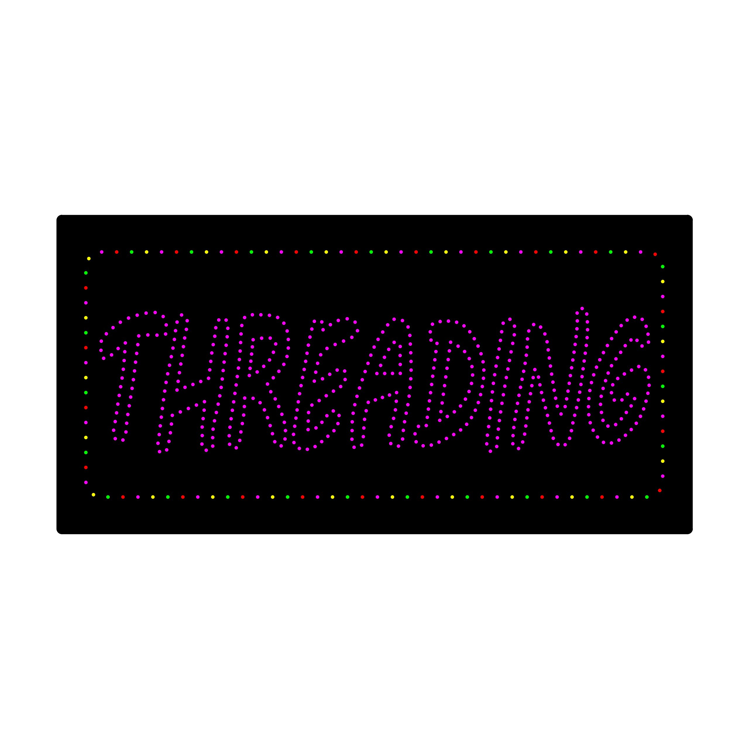 LED Treading Light Sign Super Bright Electric Advertising Display Board Eyebrow Facial Waxing Nails Spa Pedicure Message Business Shop Store Window Bedroom 24 x 12 inches