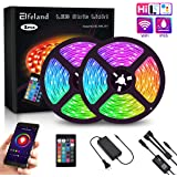 Elfeland LED Strip Lights WiFi 32.8FT 10M 300 LEDs SMD 5050 Color Changing Kit Work with Alexa Google Assistant Strip…