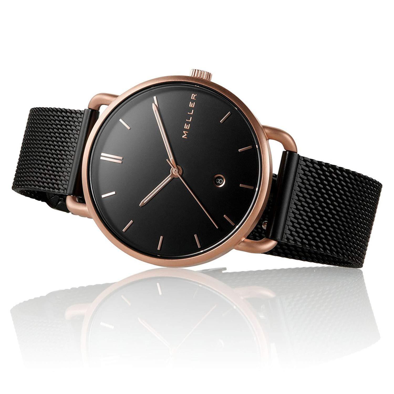 Meller Reloj Analógico para Unisex Adultos de Cuarzo con Correa en Acero Inoxidable W3R-2BLACK: Amazon.es: Relojes