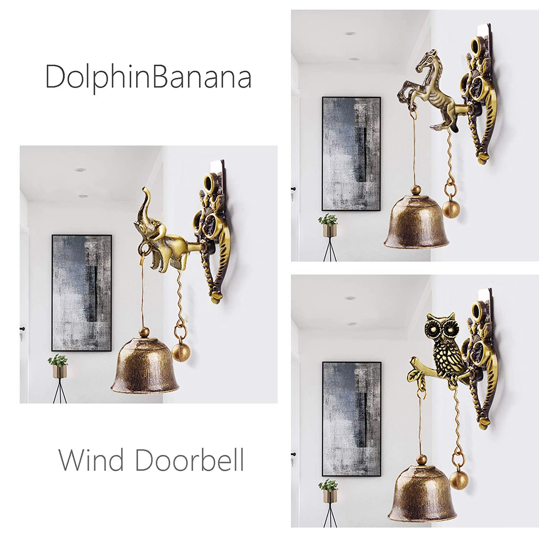 Strong Adhesive Magnet Bless Windchime DolphinBanana Metal Shopkeeper Bell Prime Gift Exquisite Garden Home Rust Proof Doorbell Office Store Entrance Front Door Bell Sharp Little Tinkle Elephant
