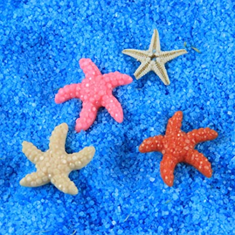 GEZICHTA Adornos de Estrellas de Mar para Acuario, Resina Artificial, 5 Piezas, Decoración