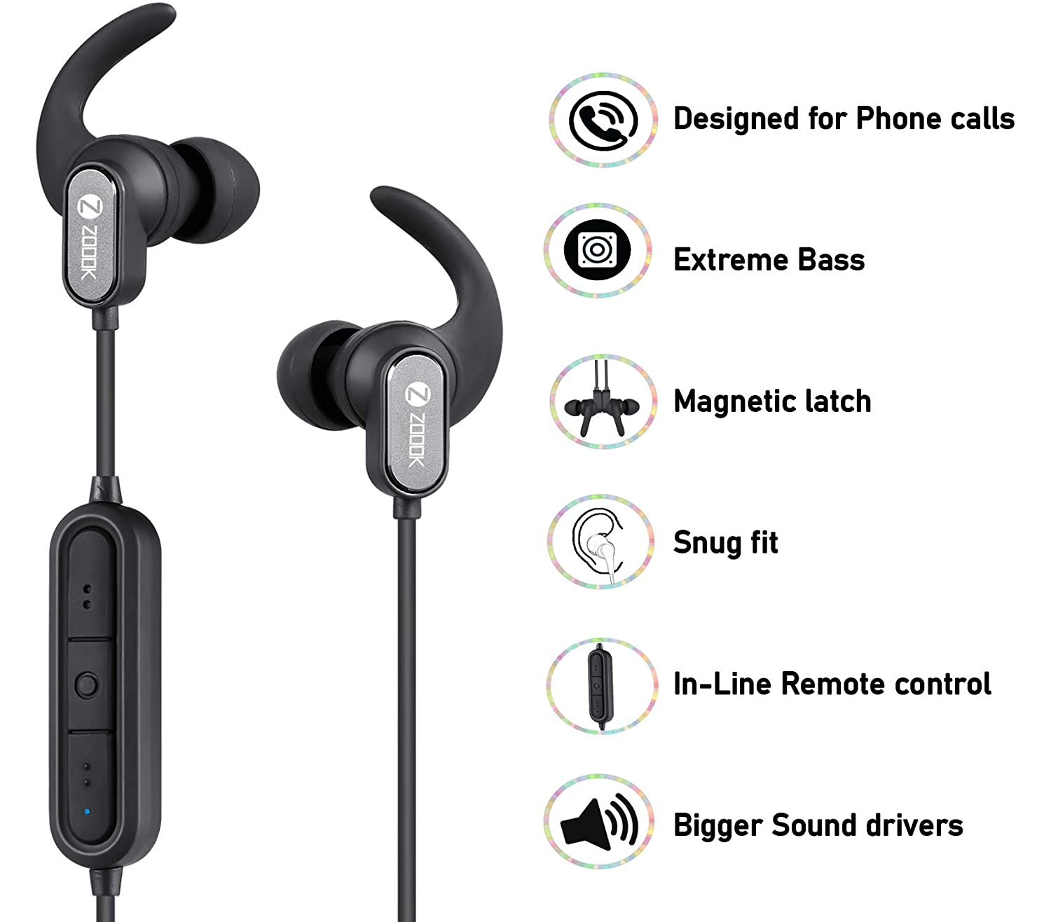 Zoook Upbeat Sports Wireless Bluetooth Headphones with: Amazon.in ...