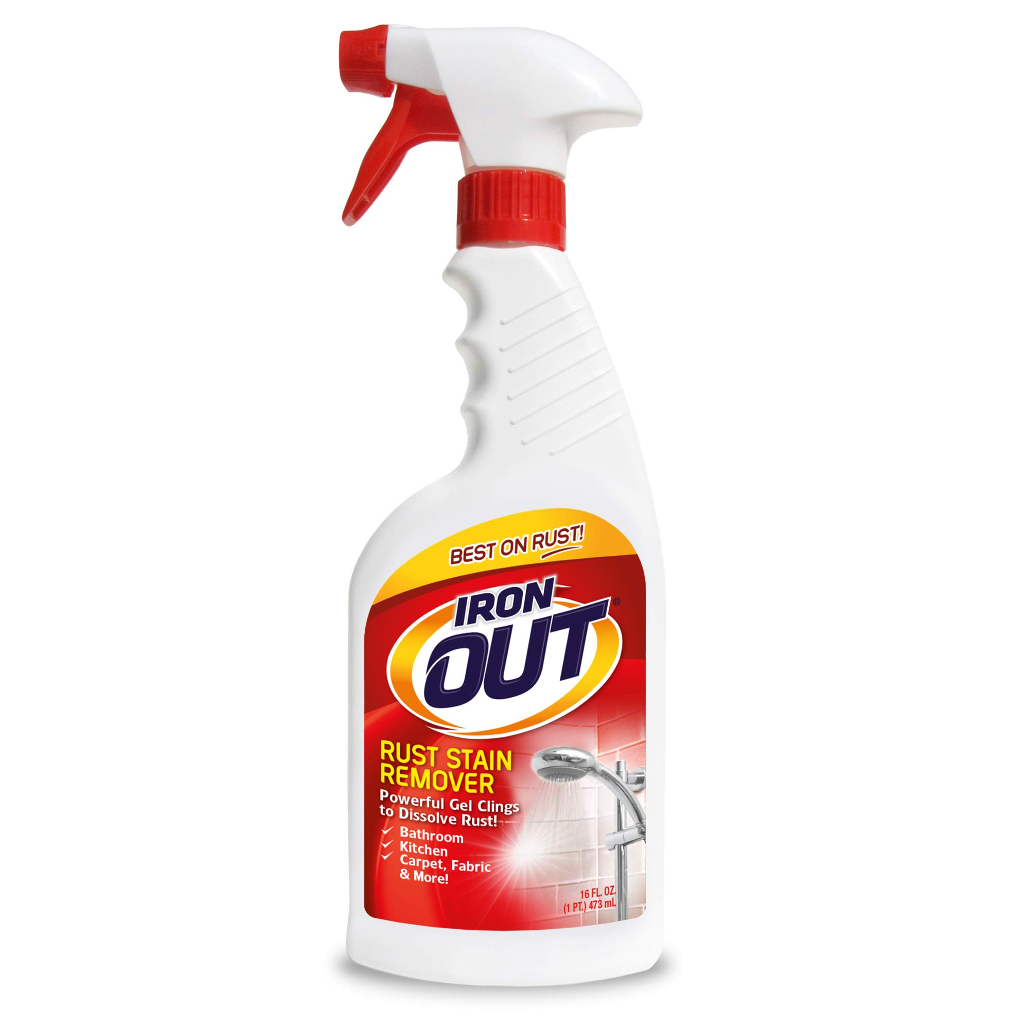 Iron OUT Rust Stain Remover Spray Gel, 16 Fl. Oz. Bottle, 6 Pack by Summit Brands (Image #1)