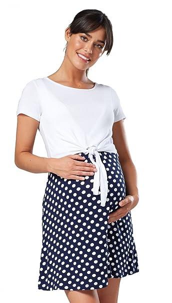 Para Mujer Vestido Premamá para Flexible Ajustado Diseño Mini 248p (Blanco &